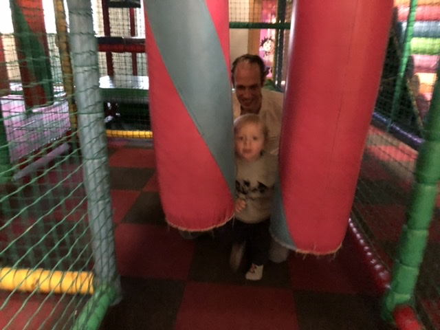 More fun going through the soft play barriers at Playpalz in Clacton.
