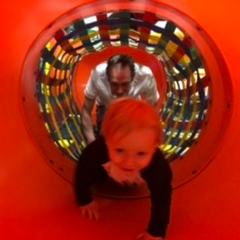 Robbie having fun at his soft play centre in clacton.